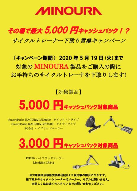 【MINOURA】サイクルトレーナー下取りキャッシュバックキャンペーン